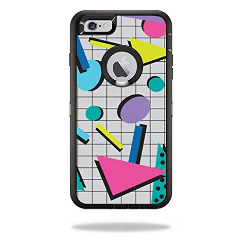 MightySkins Skin for OtterBox Defender iPhone 6 Plus/6s - Awesome 80s | Protective, Durable, and Unique Vinyl Decal wrap Cover | Easy to Apply, Remove, and Change Styles | Made in The USA
