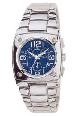 Breil 2519740370 - Reloj con Correa de Piel para Hombre, Color Azul/Gris
