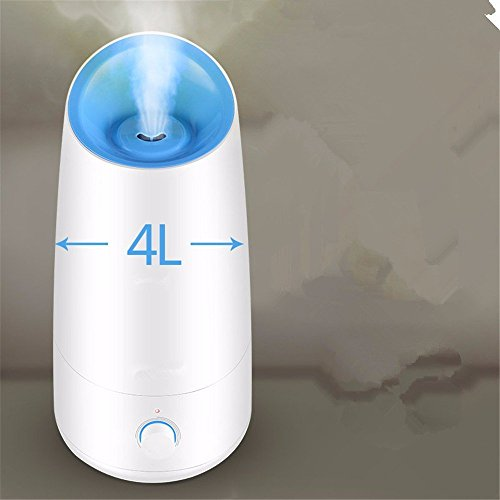 Ultrasound Atomization Humidifier Colorful Gradient Light (White) - 9