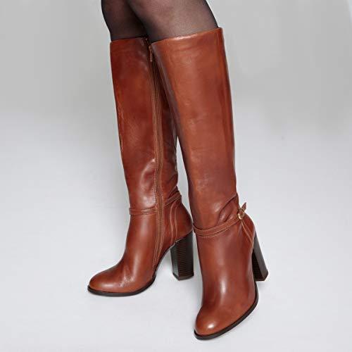 Stivali Pelle Cinturino Tacco Caviglia Alto La Cammello Collections Donna Redoute wq1aSnpIt