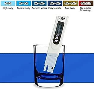 L-Home TDS-3 - Comprobador digital de calidad del agua Hydroponie, comprobador de pureza del agua, control de calidad, medidor de calidad del agua, bolígrafo para ...