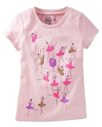 OshKosh B'gosh Baby Pink Round Neck T-Shirt For Girls