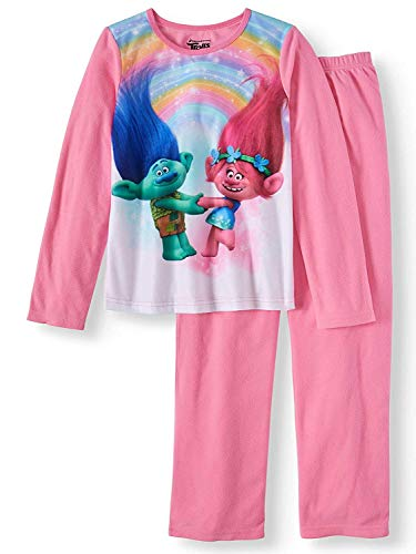 AME Girls Trolls 2 Pc Long Sleeve Brushed Jersey Pajamas for sale  Delivered anywhere in USA