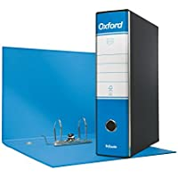 Esselte 390783800, Raccoglitore Oxford, Formato Commerciale, Cartone, Dorso 8 cm per Raccoglitore, Confezione da 6pz, Azzurro
