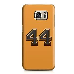 Samsung S7 Case Number 44 Sports Player Team Sleek Design Durable Samsung S7 Cover Wrap Around