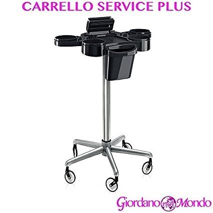 Carro para peluquería y barbería Almacenamiento Puerta secador Tijeras Peine Tinte Pelo con trípode de aluminio