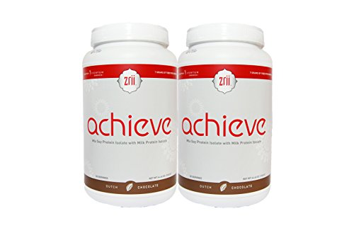 2x Zrii ACHIEVE Mix Soy Protein Isolate with Milk Protein Isolate Dutch Chocolate ( 44.46 ounce ) by Zrii