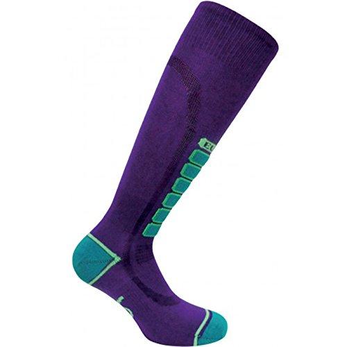 Eurosocks  Sliver Ski Light Sock, Purple, Small by Eurosocks