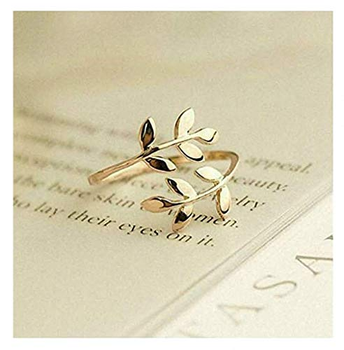 - Giwotu Womens Mens Ring Charms Two Colors Olive Tree Branch Leaves Open Ring for Women Girl Wedding Rings Adjustable Knuckle Finger Jewelry Xmas Gold Resizable