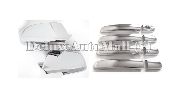 For Chevy Malibu 2008 09 10 11 2012 Chrome 4 Door Handle Covers /& TOP Mirrors