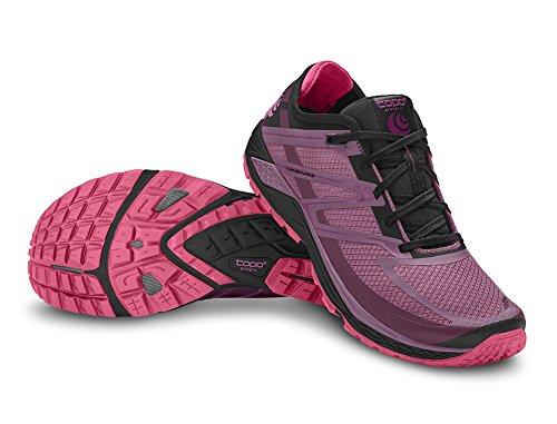 Topo Athletic Runventure 2 Running Shoes - Women's Raspberry/Black (Raspberry Sport Shoe)