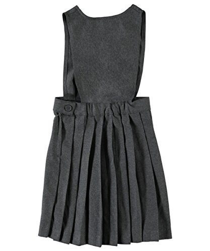 French Toast Criss Cross Pleated Jumper - Gray, 8