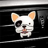 Auto Ambientador para el automóvil Forma de Perros Lindos Aire Acondicionado para el automóvil Vent Perfume Sensación cómoda Kit de decoración para el automóvil Mujer Multicolor