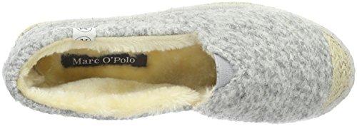 Marc O'Polo Hausschuh - Pantuflas cálidas con forro Mujer Gris - Grau (Light Grey 910)