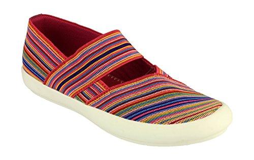 Cotswold Chedworth Señoras Verano Zapatos Damas Zapatos Calzado Textil Fuchsia