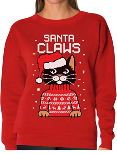 Used, TeeStars - Santa Claws Cat Ugly Christmas Sweater Women for sale  Delivered anywhere in Canada