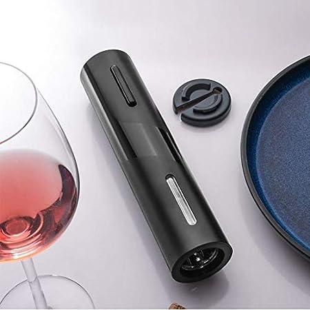 Fenteer Abridor de Vino eléctrico, abridor automático inalámbrico de Vino eléctrico con Cortador de lámina, abridor de Botellas con sacacorchos con luz LED - de la batería