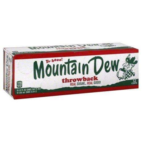 Mountain Dew Soda Fridge Pack Pack of 4 Throwback Soda