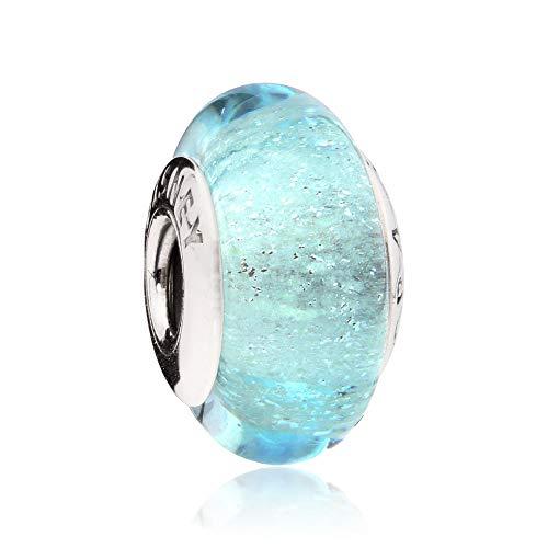 (Pandora Disney Elsa's Signature Color Murano Glass Charm 791644)