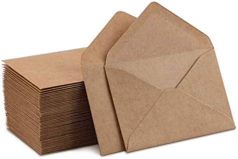 Sobres postales de papel kraft pack de 00. material de oficina