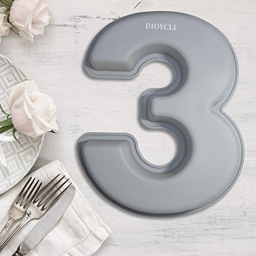 Taartvorm cijfers siliconen bakvorm cijfers groot 3d nummer taartvormen aantal 3 DIY Number Cake bakvorm…