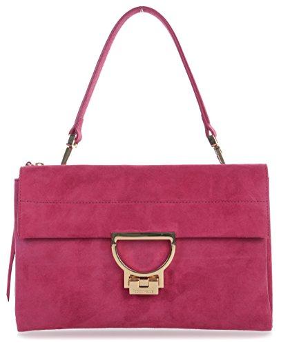 Coccinelle Arlettis Suede Schultertasche Pink