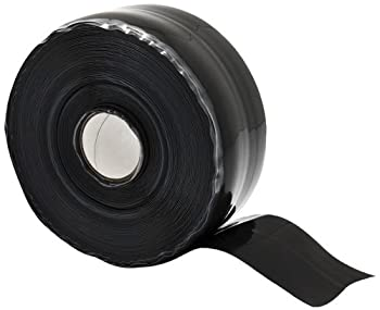"X-Treme Tape TPE-XR1536ZLB Silicone Rubber Self Fusing Tape, 1.5"" x 36', Rectangular, Black"
