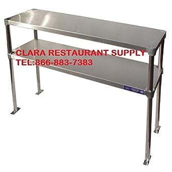 Amazon Com Stainless Steel Double Deck Overshelf 18