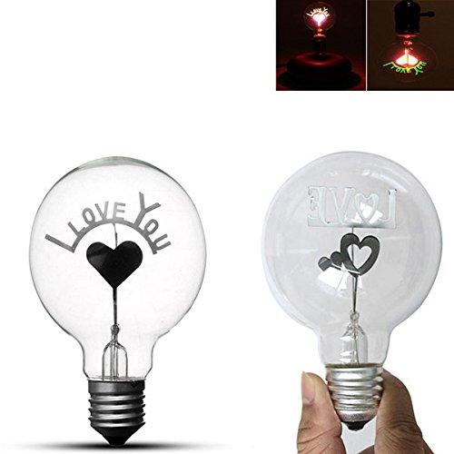 Led Light Bulbs - E27 1.5w Vintage Edison Single Double Filament Hearts Warm White Incandescent Light Bulb Ac220-240v - Edison Hearts Light Bulb - - Florida Pear Park