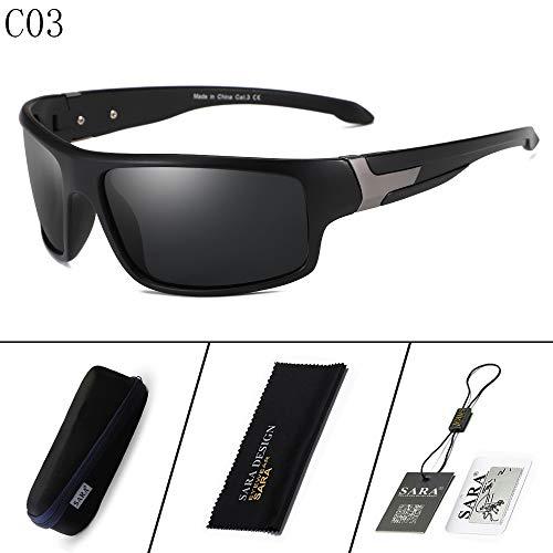 Libre Deportivas de Hombre Mjia sunglasses Gafas Aire Gafas 1 Sol Negro Black de al polarizadas Gafas polarizador 3 Montar xEqX11wv