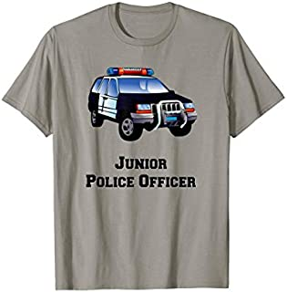 Birthday Gift Future Police Officer: Police Car, Junior Police Kids  Short and Long Sleeve Shirt/Hoodie