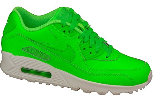 Nike - Air Max 90 LTR GS - 724821300 - Color: Green - Size: 5.5 Big Kid