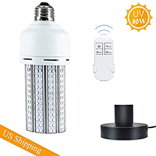 LED Lamp with Base with Remote Control,80W E26, E27 Led Light Bulb Suitable for Home, Restaurant,Office, Warehouse, Supermarket Light Bulb