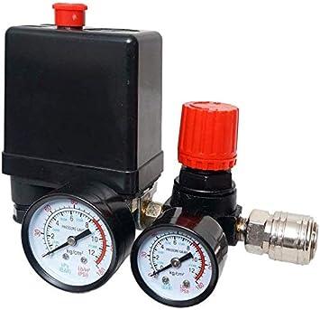 Druckregler mit Druckschalter für Kompressor Schalter Luftkompressor Manometer b