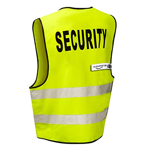 4 x SECURITY High Visibility Reflective Vest / Jacket (Zip Front) - From To Us First Canada Class Mail