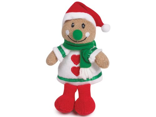 Grriggles 7-1/2-Inch Terry Plush Gingerbread People Dog Toy, Girl, My Pet Supplies