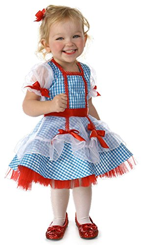 Princess Paradise Baby Girls' the Wizard of Oz Dorothy Glitter Deluxe Costume, As Shown, 18M/2T (2t Dorothy Costume)