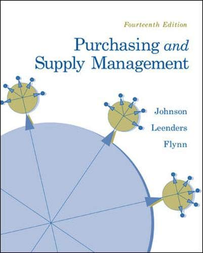 Purchasing and Supply Management (The Mcgraw-hill/Irwin...