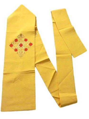ホームズーム廃止するリサイクル 名古屋帯 塩瀬 刺繍 正絹 華文