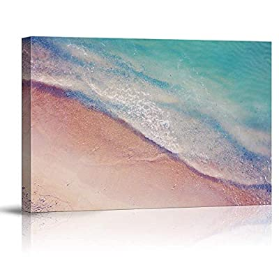 Canvas Wall Art Beach Blue Sea Water Painting Artwork for Home Prints Framed - 12x18 inches