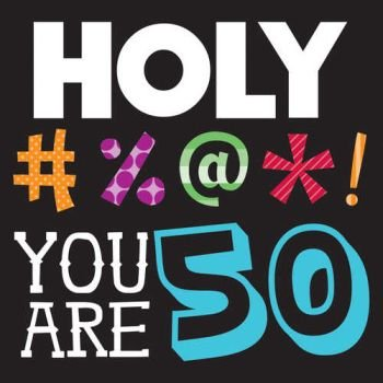 3 Ply Lunch Napkins 50th Holy Bleep 16 Ct ()