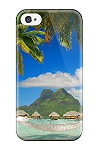 Cute Appearance Cover/tpu Bora Bora Case For Iphone 4/4s