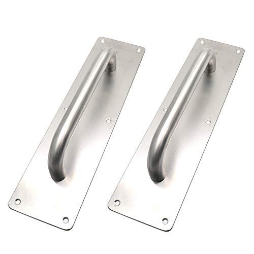 (BTMB Stainess Steel Door Handle Pull Plate Commercial Door Handle,Pack of 2 (299x80mm/11.77''x3.15''))