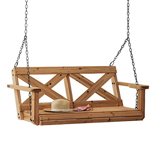 Backyard Discovery 1906617 Farmhouse Porch Swing, Brown