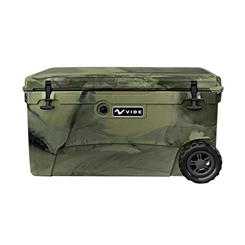 Vibe Element 70 Quart Rotomolded Hard Shell Cooler with Bottle Opener | Hunter Camo by Vibe Kayaks
