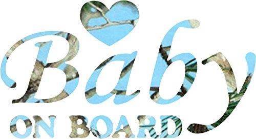 Male Heart Baby on Board Sticker Decal
