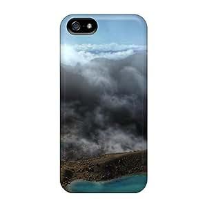 New Premium Flip Case Cover Tongariro National Park New Zeal Skin Case For Iphone 5/5s