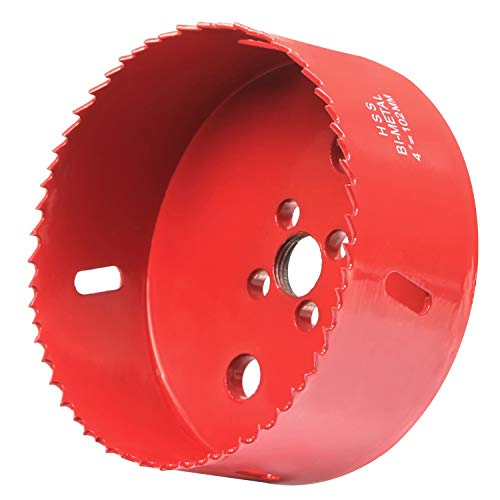 aw, 38mm Depth Bi-Metal HSS 4 Inch Hole Saw Blade With Positive Rake Teeth For Cutting Metal, Drywall, Plastic, Wood, Fiberboard ()