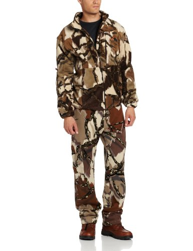 Predator Camo Men's Stealth Fleece Jacket, Brown Deception, XX-Large