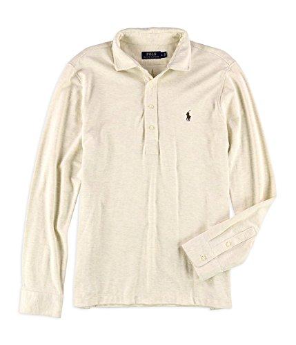 (RALPH LAUREN Polo Men's Jacquard Lightweight Long Sleeve Pullover Shirt, Resort Heather (XX-Large) )